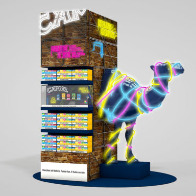 avenew-visual merchandising-pos-neon-pillar