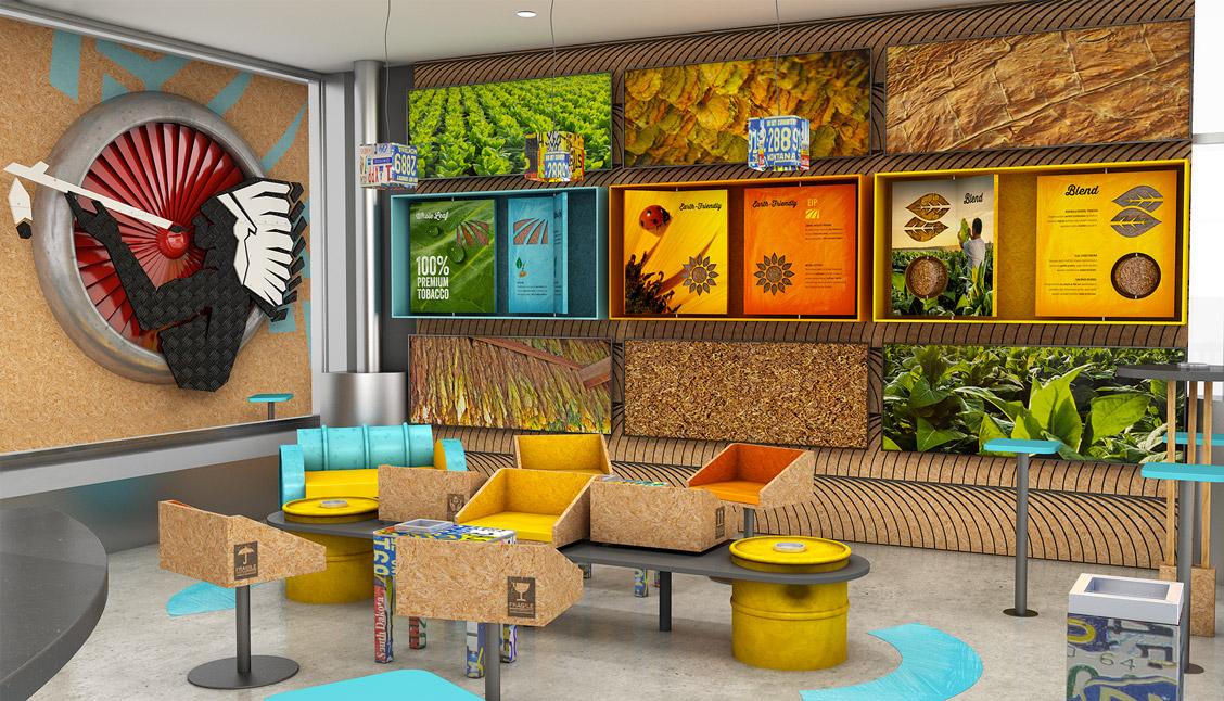 avenew-agence de communication-fmcg-natural-american-spirit-instore-smoking-lounge-01